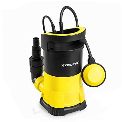 TROTEC TWP 4005 E Klarwasser Tauchpumpe flachsaugend | 400 Watt | max. 7,5 m Tiefe